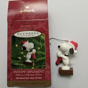 Hallmark 'Snoopy' ornament #5 in collection of 5